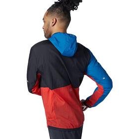 New Balance Printed Impact Run Light Pack Jacket Men, negro/blanco
